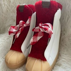 NWOT Coach Red White Hiker Boots Size 9B